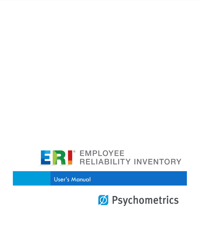 pre employment assessment test samples - user manual