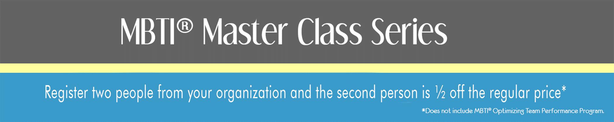 Mbti Master Class Series Advanced Workshops