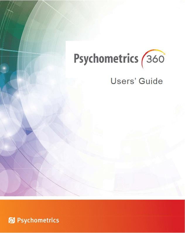 Psychometrics 360 User Guide