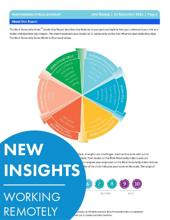 Work Personality Index leadership Report New Insights Remote Work