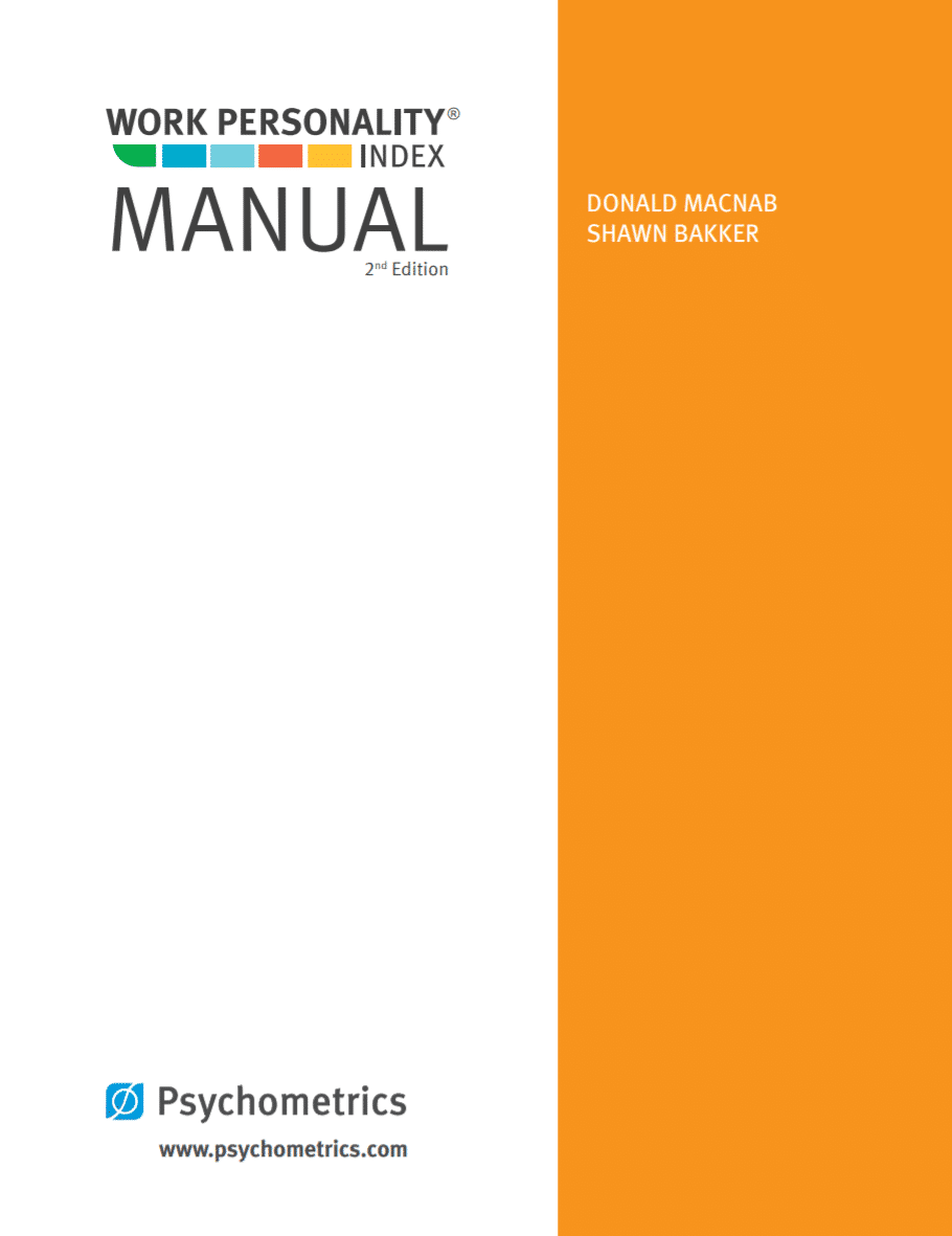 Work Personality Index Manual