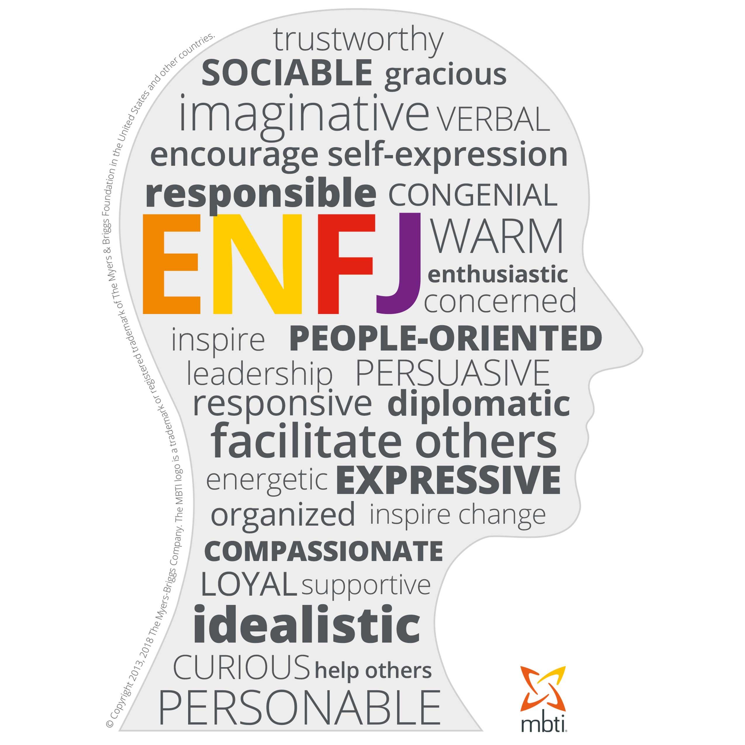 MBTI Myers-Briggs Personality Type Characteristics ENFJ