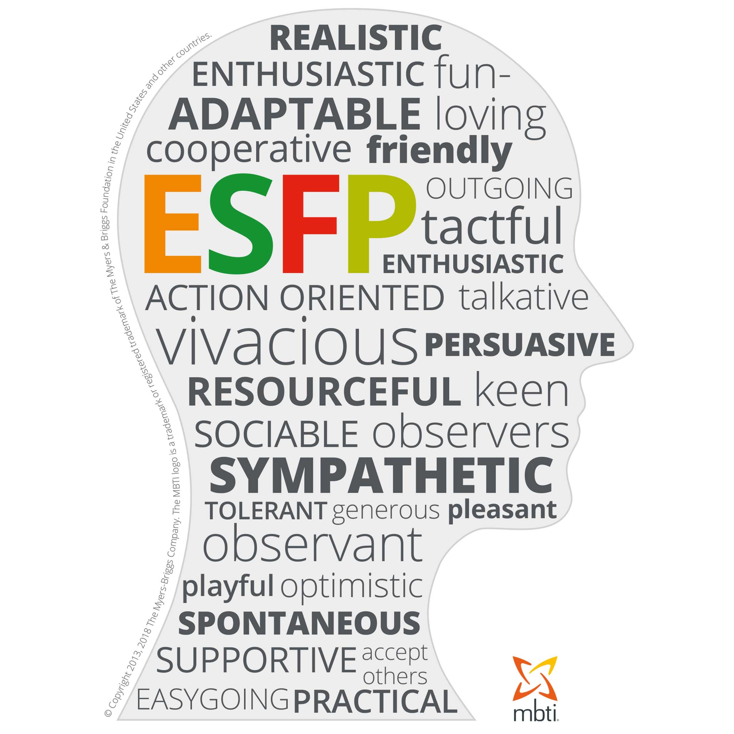 MBTI Myers-Briggs Personality Type Characteristics ESFP