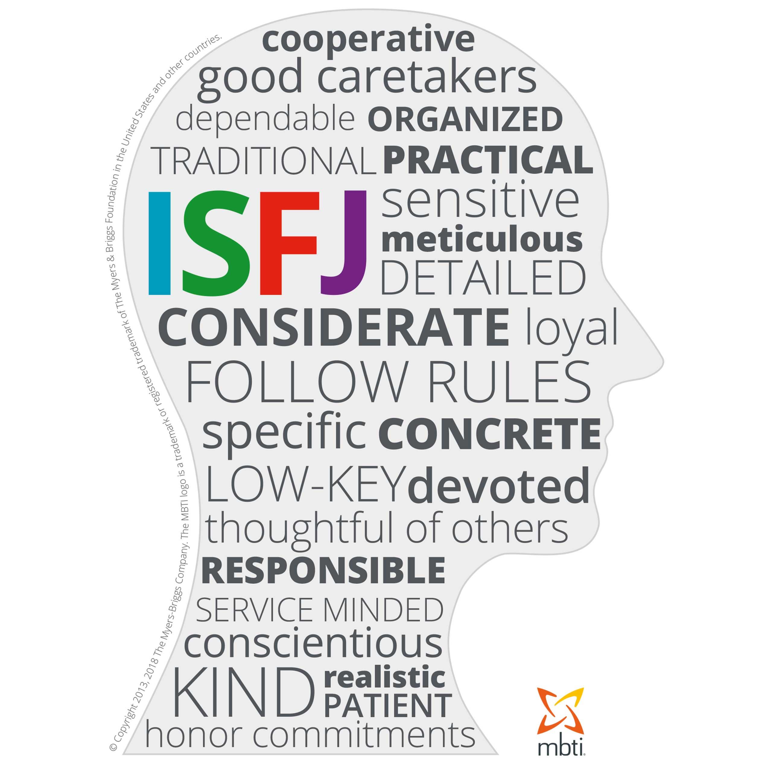 MBTI Myers-Briggs Personality Type Characteristics ISFJ