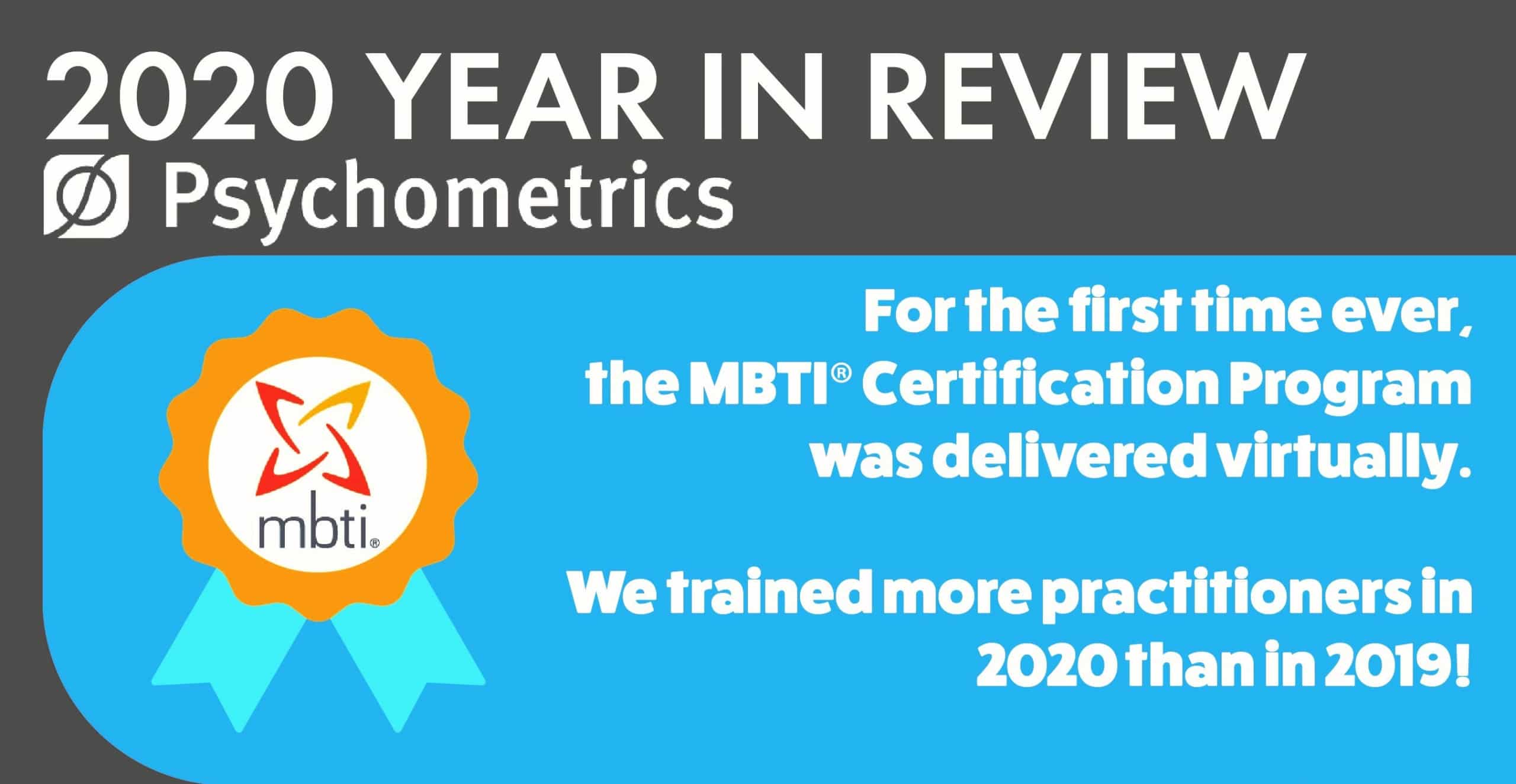 2020 year in review, MBTI Certification Program delivered virtually