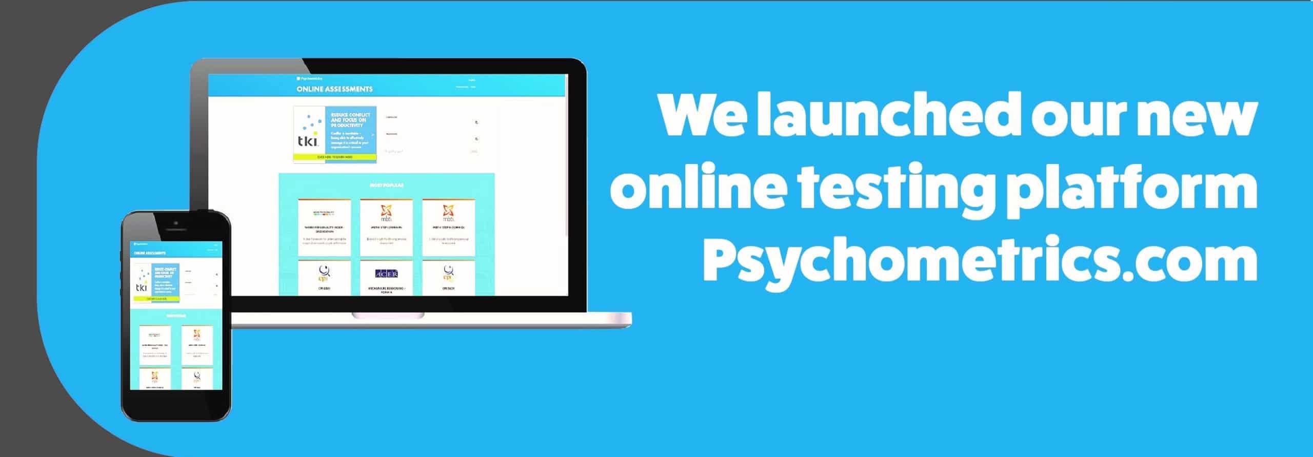 Launched online platform Psychometrics.com