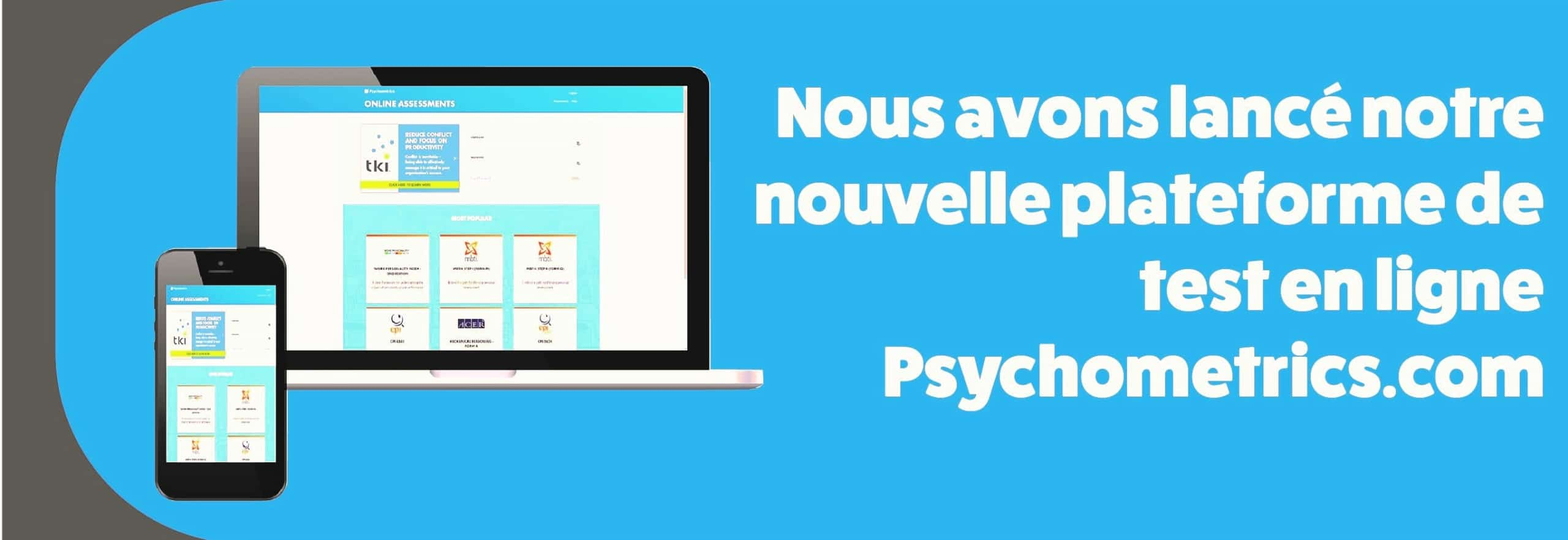 Platforme de test en ligne Psychometrics.com