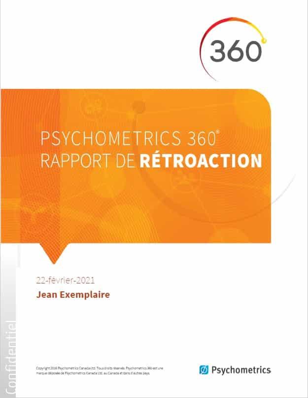 Psychometrics 360 Rapport de Retroaction