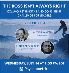 Complimentary Webinar - The Boss Isn't Always Right - Common strengths and consistent challenges of leaders