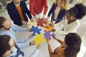 Diverse Team Connecting Puzzle